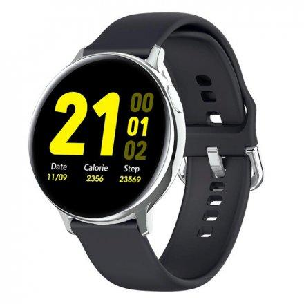 Smartwatch Pacific 24-2 Srebrny z paskiem Puls Kroki