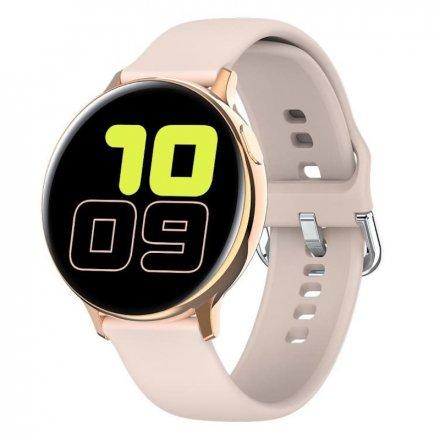 Smartwatch Pacific 24-3 Złoty z paskiem Puls Kroki
