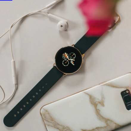 Smartwatch Pacific 24-4 Złoty z paskiem Puls Kroki