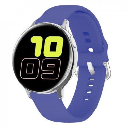 Smartwatch Pacific 24-8 Srebrny z paskiem Puls Kroki