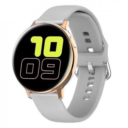 Smartwatch Pacific 24-10 Złoty z paskiem Puls Kroki