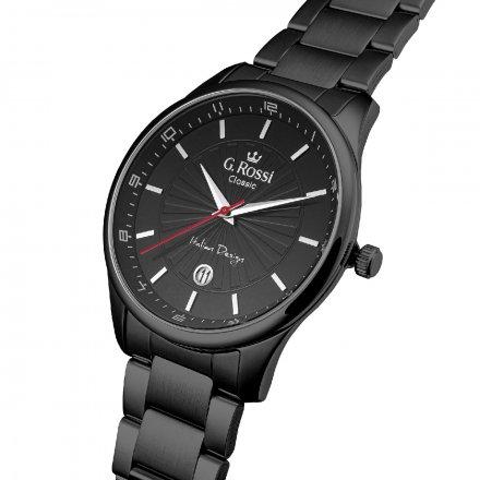 Zegarek G.Rossi z czarną bransoletą C12156B2-1A5