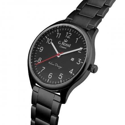 Zegarek G.Rossi z czarną bransoletą C1273B2-1A5