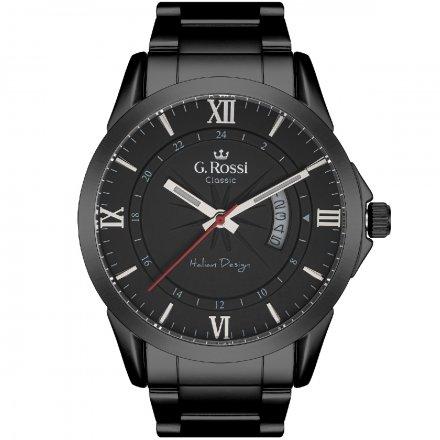 Zegarek G.Rossi z czarną bransoletą C3844B3-1A5