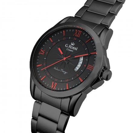 Zegarek G.Rossi z czarną bransoletą C3844B3-1A5-2