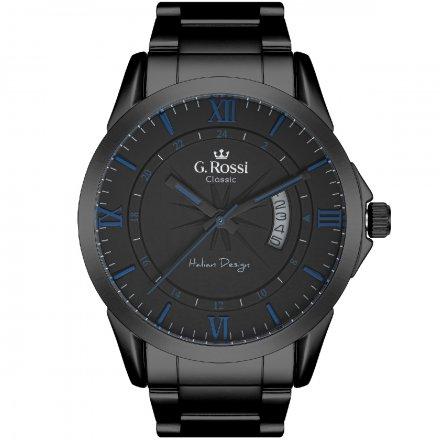 Zegarek G.Rossi z czarną bransoletą C3844B3-1A6