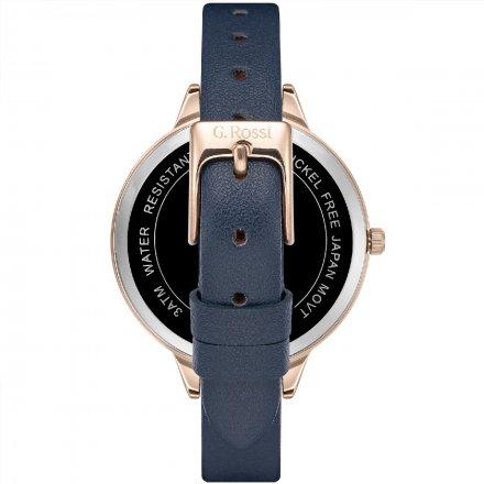 Zegarek G.Rossi różowozłoty z granatowym paskiem G.R10296A5-6F3