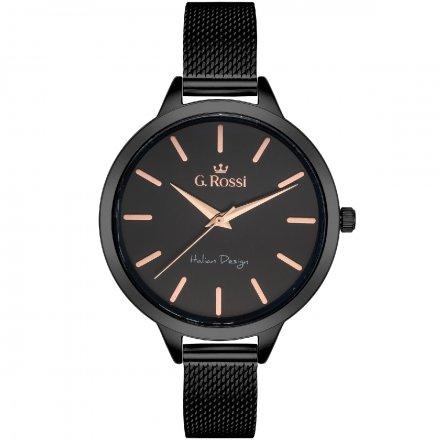 Zegarek damski G.Rossi czarny z bransoletką G.R10296B-1A4