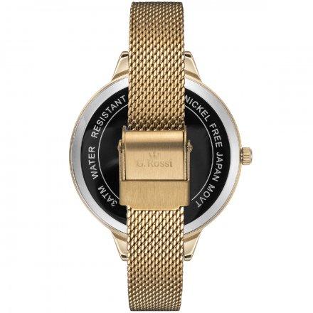 Zegarek damski G.Rossi złoty z bransoletką G.R10296B-1D1