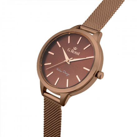 Zegarek damski G.Rossi brązowy z bransoletką G.R10296B-2B3