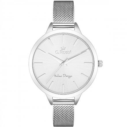 Zegarek damski G.Rossi srebrny z bransoletką G.R10296B-3C1