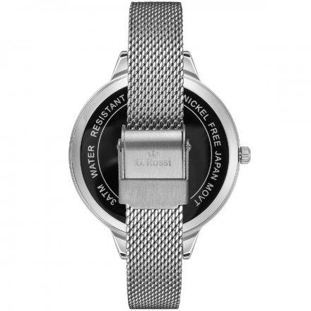 Zegarek damski G.Rossi srebrny z bransoletką G.R10296B-3C6
