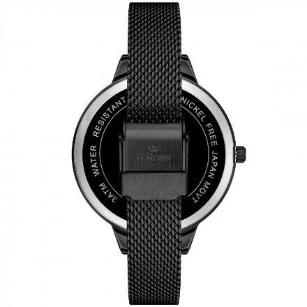 Zegarek damski G.Rossi czarny z bransoletką G.R10296B4-1A4