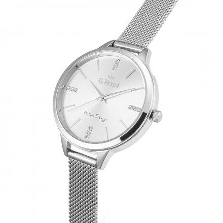 Zegarek damski G.Rossi srebrny z bransoletką G.R10296B4-3C1
