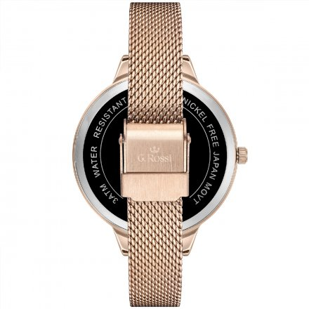 Zegarek damski G.Rossi różowozłoty z bransoletką G.R10296B4-4D2