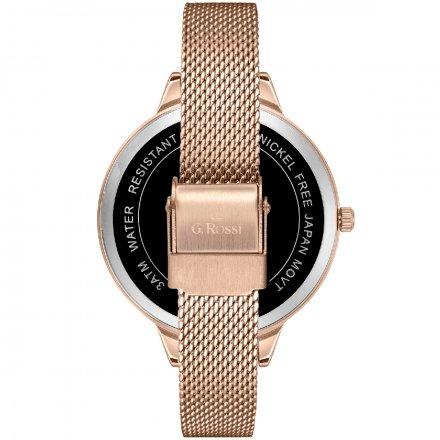 Zegarek damski G.Rossi różowozłoty z bransoletką G.R10296B-4D2