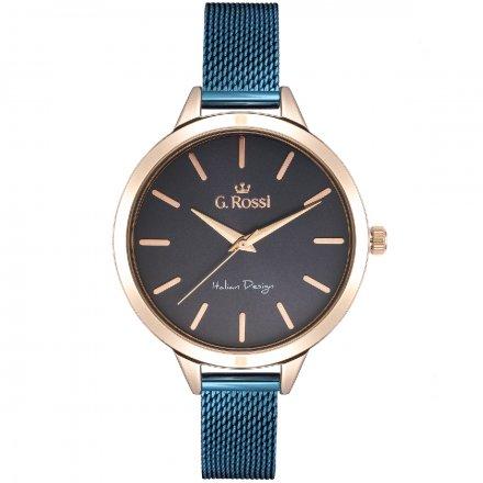 Zegarek damski G.Rossi niebieski z bransoletką G.R10296B-6F3