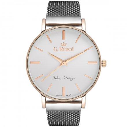 Zegarek damski G.Rossi srebrny z bransoletką G.R10401B-3B4