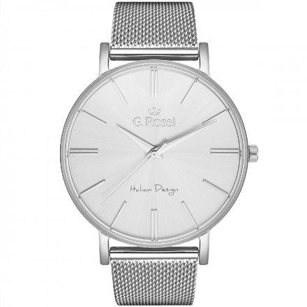 Zegarek damski G.Rossi srebrny z bransoletką G.R10401B-3C1