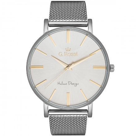 Zegarek damski G.Rossi srebrny z bransoletką G.R10401B-3C2