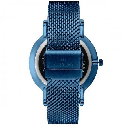 Zegarek damski G.Rossi niebieski z bransoletką G.R10401B-6F1
