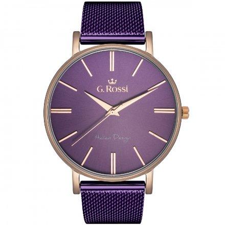 Zegarek damski G.Rossi fioletowy z bransoletką G.R10401B-7G3