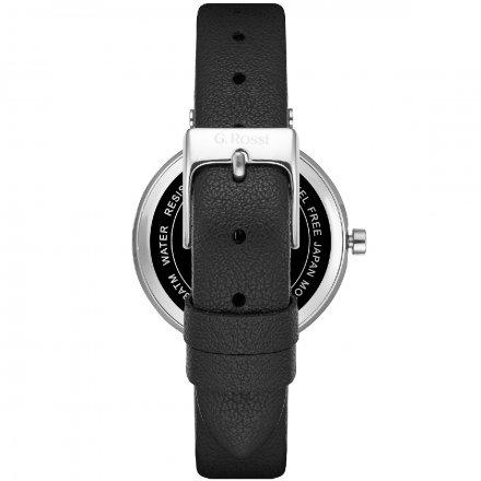 Zegarek G.Rossi srebrny z czarnym paskiem G.R10995A2-1A1