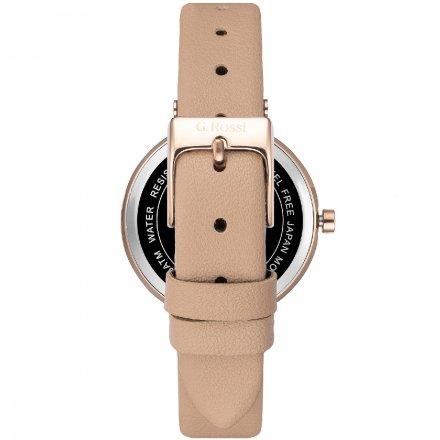 Zegarek G.Rossi złoty z beżowym paskiem G.R10995A2-2B3