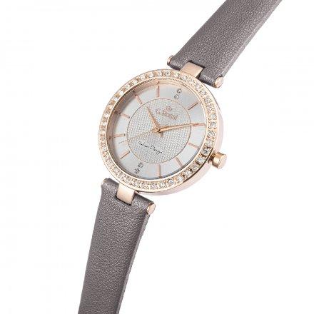 Zegarek G.Rossi złoty z szarym paskiem G.R10995A2-3B4