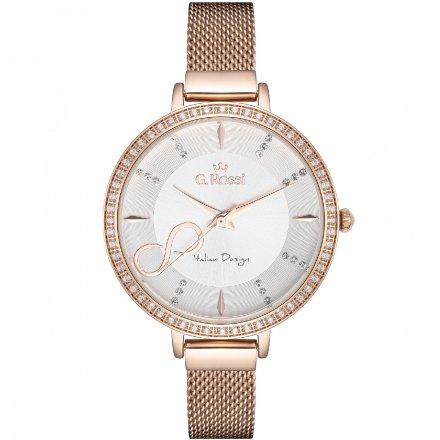 Zegarek damski G.Rossi różowozłoty z bransoletką G.R11389B3-3D3