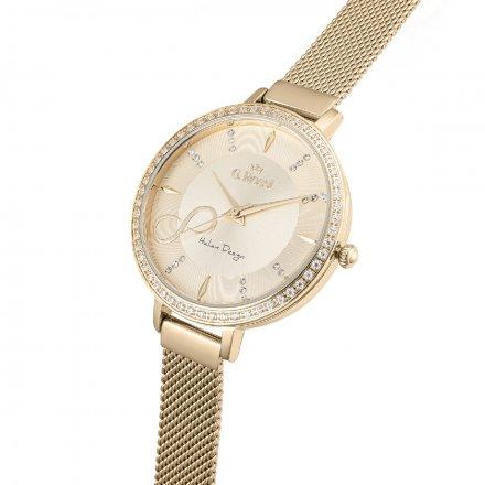 Zegarek damski G.Rossi złoty z bransoletką G.R11389B3-4D1