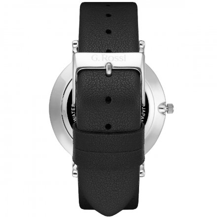 Zegarek G.Rossi srebrny z czarnym paskiem G.R11989A6-1A1