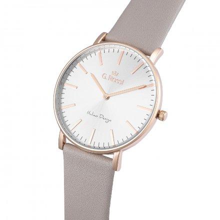 Zegarek G.Rossi złoty z szarym paskiem G.R11989A6-3G3