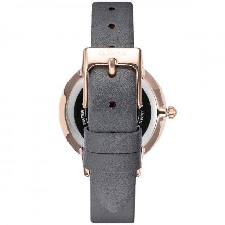 Zegarek G.Rossi złoty z szarym paskiem G.R12094A-1B3
