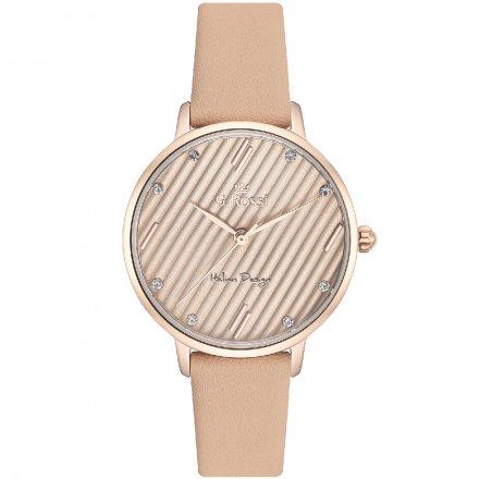 Zegarek G.Rossi złoty z beżowym paskiem G.R12094A-2B3
