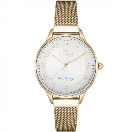 Zegarek damski G.Rossi złoty z bransoletką G.R12189B-3D1