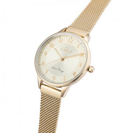 Zegarek damski G.Rossi złoty z bransoletką G.R12189B-4D1