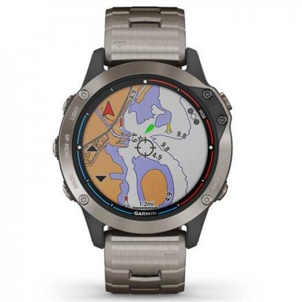 Zegarek Garmin Quantix 6 Sapphire Tytanowy z bransoletą 010-02158-95