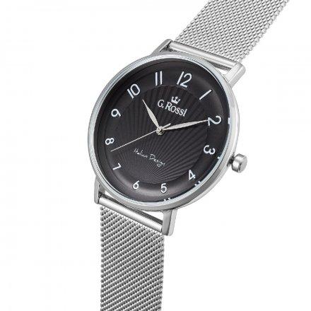 Zegarek damski G.Rossi srebrny z bransoletką G.R12507B2-1C1