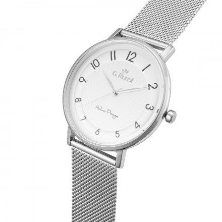 Zegarek damski G.Rossi srebrny z bransoletką G.R12507B2-3C1