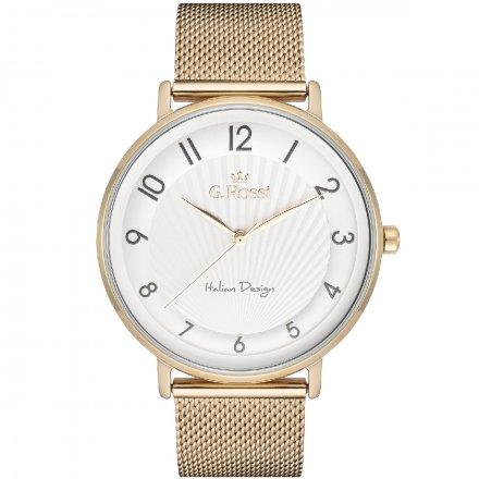 Zegarek damski G.Rossi złoty z bransoletką G.R12507B2-3D1