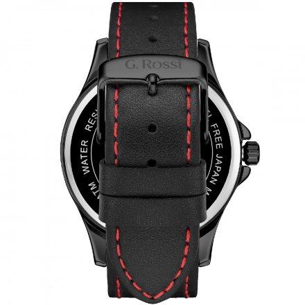 Zegarek G.Rossi srebrny z czarnym paskiem G.R8071A3-1A3
