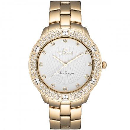 Zegarek damski G.Rossi złoty z bransoletką G.R8527B2-3D1