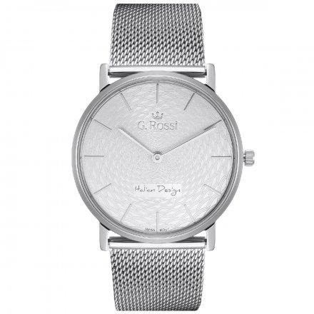 Zegarek damski G.Rossi srebrny z bransoletką G.R8709B2-3C1