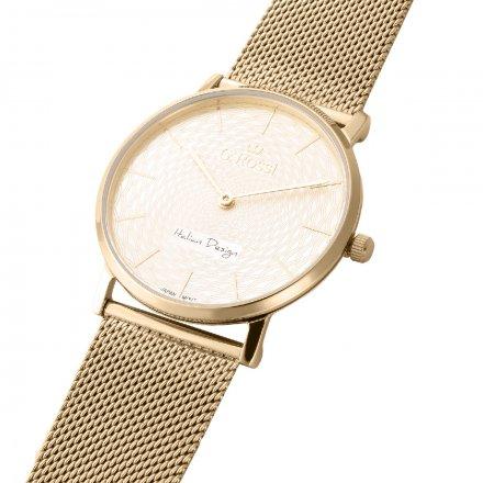 Zegarek damski G.Rossi złoty z bransoletką G.R8709B2-4D1