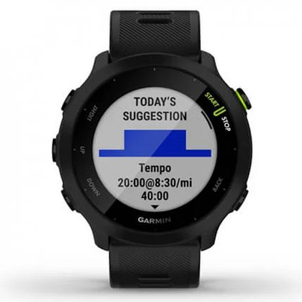 GARMIN Forerunner 55 Czarny zegarek do biegania 010-02562-10