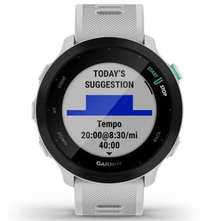 GARMIN Forerunner 55 Biały zegarek do biegania 010-02562-11