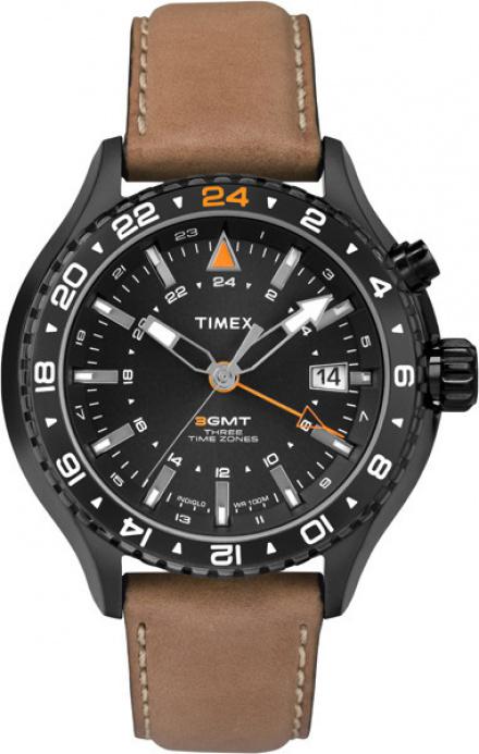 T2P427 Zegarek Męski Timex Intelligent Quartz 3-Gmt T2P427