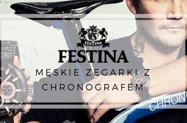 Sportowo-eleganckie zegarki męskie - Festina z chronografem